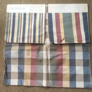 Cotton Fabric Backed. 8 Pieces 26x26 each. Stripes